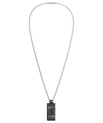 CALVIN KLEIN Strong Stainless Steel Black Necklace