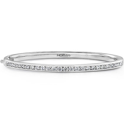 Hearts On Fire Dc20 Fw18 - 18Kr Hof Classic Channel Set Bangle .67-.75Ctw