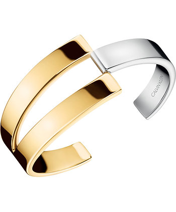 CALVIN KLEIN Truly Stainless Steel silver/gold Bracelet