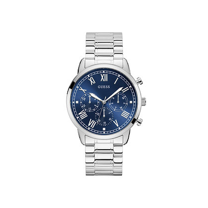 GUESS HENDRiX MEN'S WATCH Blue Dial Stainless Steel