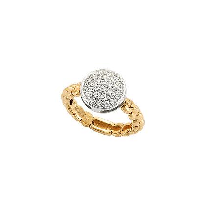 FOPE Eka Tiny ring with diamond PAVE