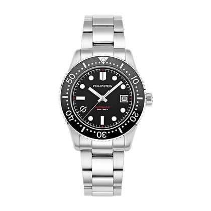 PHILIP STEIN Automatic-41mm Black Dial Ss-S