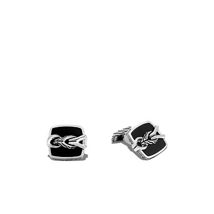 JOHN HARDY John Hardy Asli Classic Chain Link Cufflinks with Black Onyx
