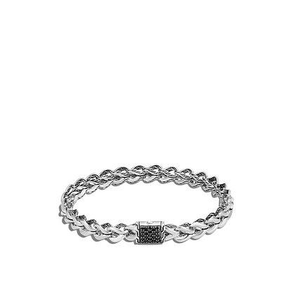 JOHN HARDY Asli Chain Link Bracelet, Black Sapphire M 7mm