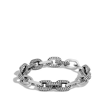 JOHN HARDY Dot Silver Small Link Bracelet Size M