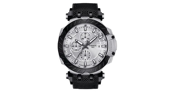 TISSOT T-RACE AUTOMATIC CHRONOGRAPH MEN's Silver Dial Black PVDCase