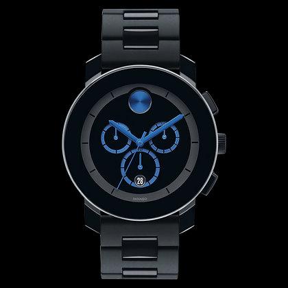 MOVADO BOLD TR90 Black Dial/ Cobalt Blue Accents