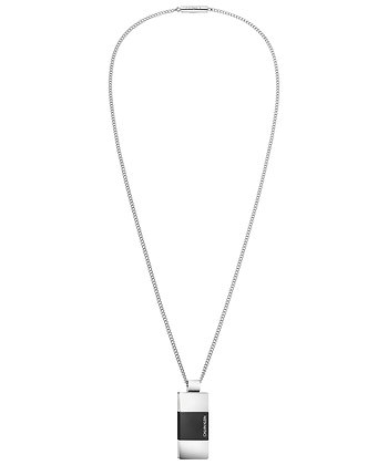 CALVIN KLEIN Strong Stainless Steel/ Black Necklace