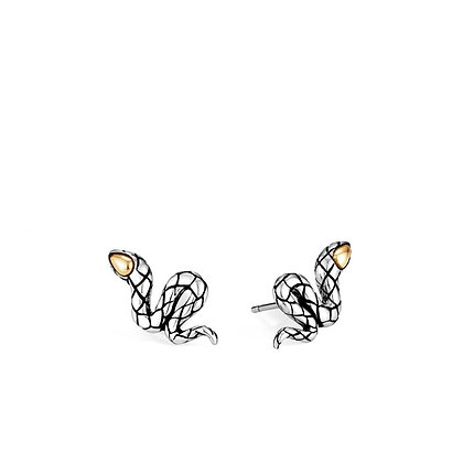 JOHN HARDY Legends Cobra Stud Earring with 18k Yellow Gold Accent