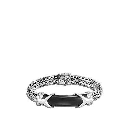 JOHN HARDY Asli Classic Chain Link Station Bracelet with Black Onyx L 10.5mm