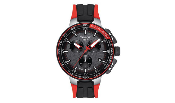 TISSOT T-RACE CYCLING CHRONOGRAPH Bronze Dial Black/Red Silicone Strap