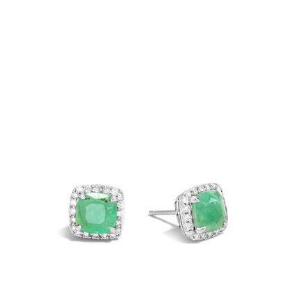 JOHN HARDY Batu Classic Chain Er Dia.33Ct Emerald