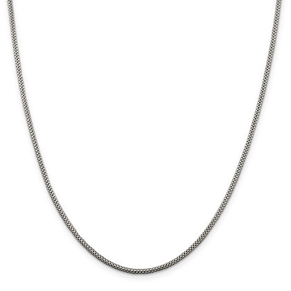 "QG STERLING SILVER 2mm FANCY 18"" CHAIN"
