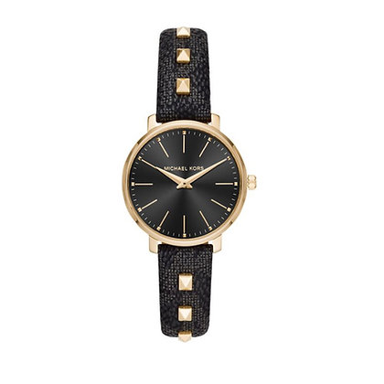 MICHAEL KORS  Women's Pyper Black Studded Watch