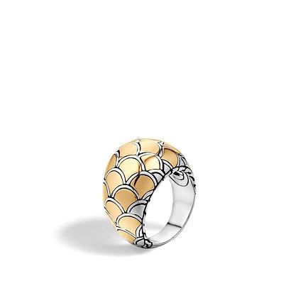 JOHN HARDY Naga Gold Silver Dome Ring Sz7
