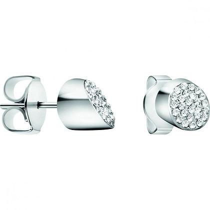CALVIN KLEIN Ladies Brilliant Stainless steel/ white crystal Earrings