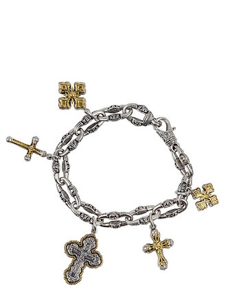 Konstantino Cross Charm Bracelet