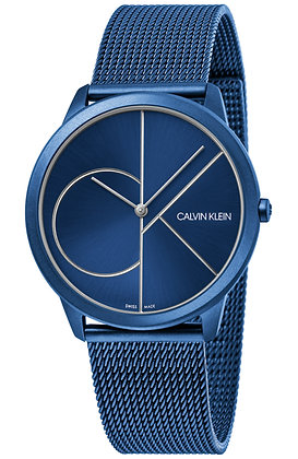 CALVIN KLEIN watch Minimal Blue Stainless Steel Bracelet