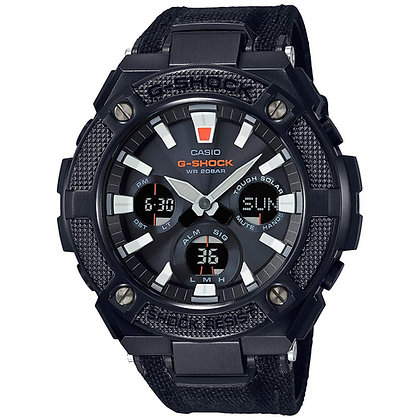 Casio G-Shock Analog-Digital Black Dial Men's Watch with Leather strap