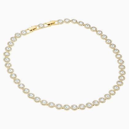 SWAROVSKI Angelic Necklace, White, Gold-tone plated