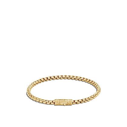 JOHN HARDY Box Chain 18k Yellow Gold Bracelet M 3.7mm