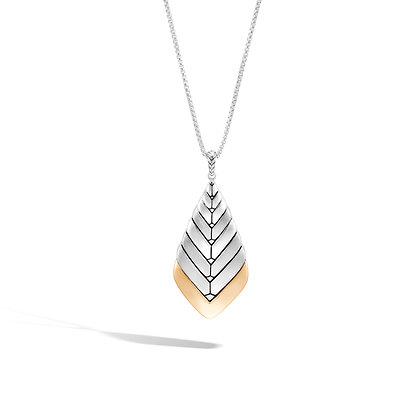 JOHN HARDY Womens' Modern Chain 18K Gold & Silver Pendant Sz 36