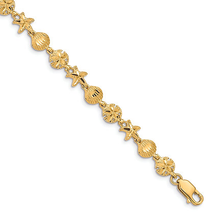 QG 14K Yellow Gold SEA LIFE BRACELET