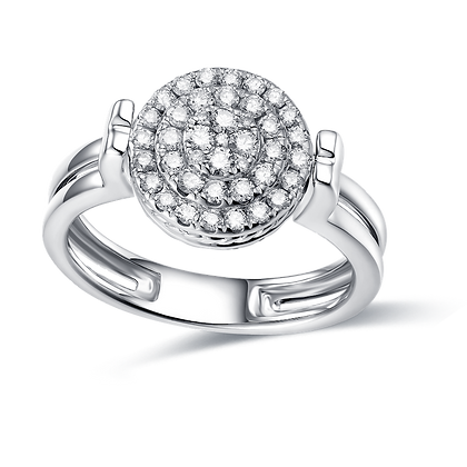 BELLANITA 14K White Gold Flip Ring