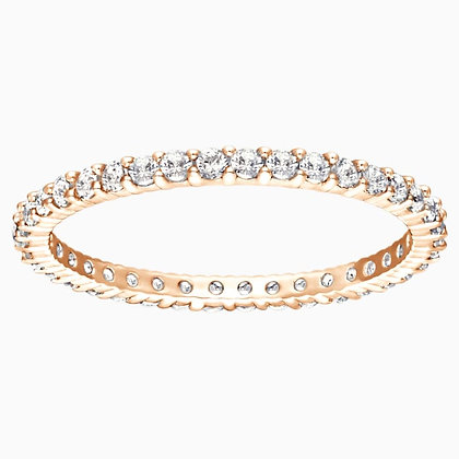 SWAROVSKI Vittore Ring, White, Rose-gold tone plated Size 5,6,8 and 9