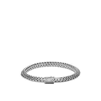 JOHN HARDY Tiga Chain Bracelet with Black Sapphire, Spinel and Diamonds M 6.5mm