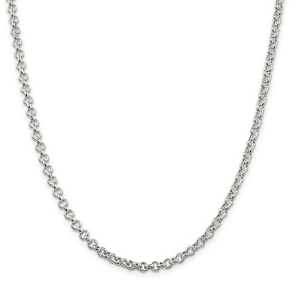 """QG STERLING SILVER 4.25mm ROLO 20"""" CHAIN"""
