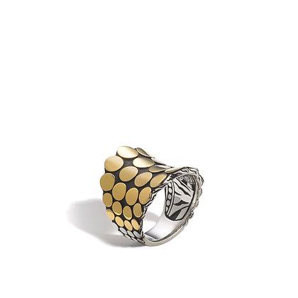 JOHN HARDY Cobra Dbl Coil Ring Sz7