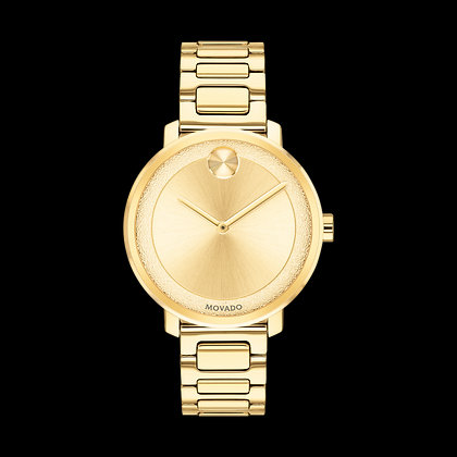 MOVADO BOLD SHImmER Pale Gold Tone Dial Pale Gold Plated Stainless Steel