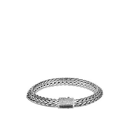 JOHN HARDY Tiga Chain Bracelet with Black Sapphire, Spinel and Diamonds M 8mm