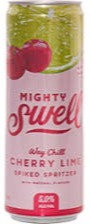 Mighty Swell Cherry Lime 355ml Cans in a 6 Pack