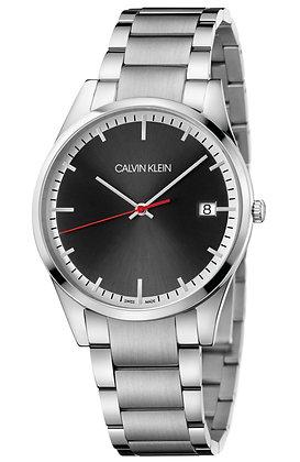 CALVIN KLEIN Watch Time Stainless Steel Bracelet Black Dial