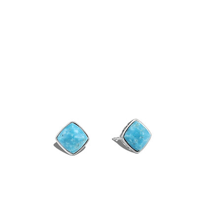 JOHN HARDY Classic Chain Sugarloaf Stud Earring with Turquoise