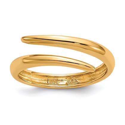 QG 14K Yellow Gold POLISHED BYPASS RING