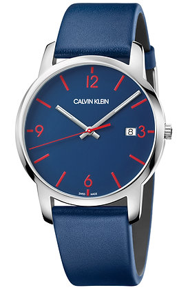 CALVIN KLEIN Watch City Blue Leather Strap