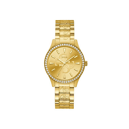 GUESS ANNA WOMEN'S WATCH Champagne Logo Dial With G Pattern
