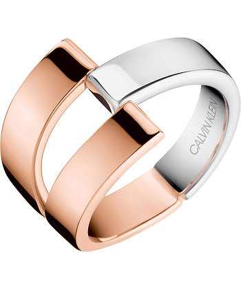 CALVIN KLEIN Truly Stainless Steel Ring/ Rose gold