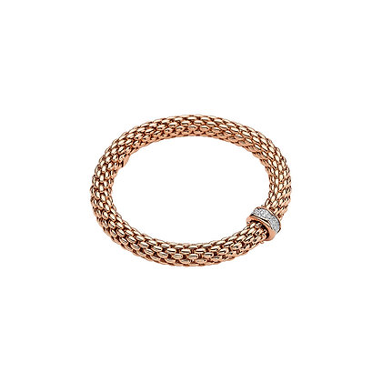 FOPE Love Nest Flex'it bracelet with diamond PAVE