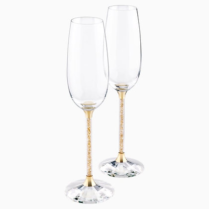 SWAROVSKI Crystalline Toasting Flutes , Gold Tone (Set of 2)