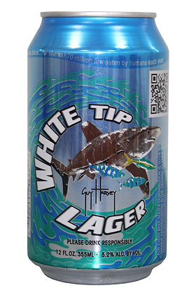 White Tip Lager 335ml Cans in a 24 Case