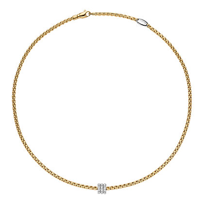 FOPE Eka Tiny Necklace with diamond PAVE