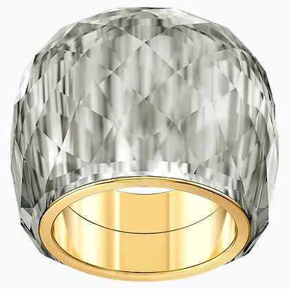 SWAROVSKI Nirvana Ring, Gray, Gold-tone PVD size 7,8.