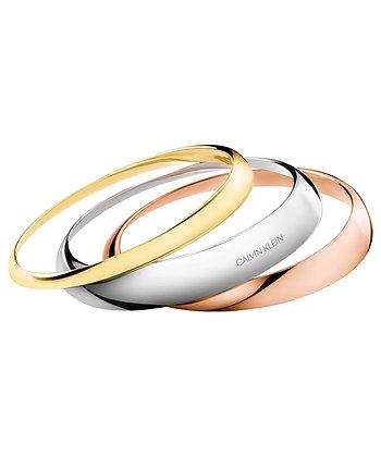 CALVIN KLEIN Groovy Stainless Steel/ gold/ rose gold Bracelet