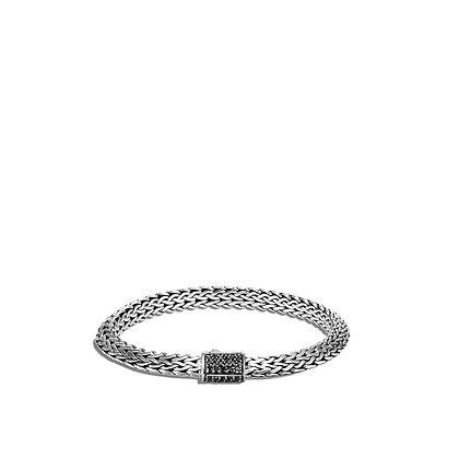 JOHN HARDY Tiga Chain Bracelet with Black Sapphire M 6.5mm
