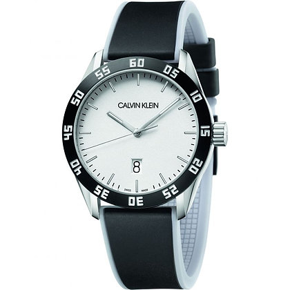 CALVIN KLEIN Watch Compete Stainless steel/ Silicone Strap