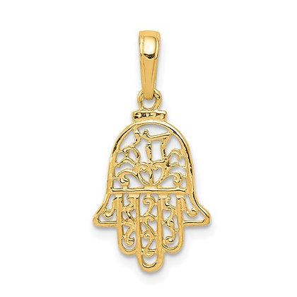 QG 14k Yellow gold Chamseh Pendant